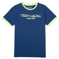Îmbracaminte Băieți Tricouri mânecă scurtă Teddy Smith TICLASS 3 Albastru