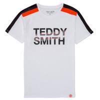 Îmbracaminte Băieți Tricouri mânecă scurtă Teddy Smith T-MACK Alb