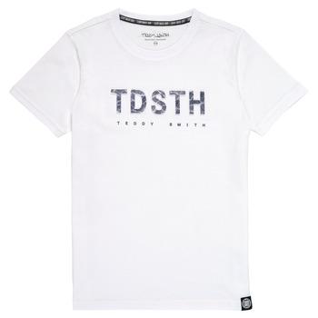 Îmbracaminte Băieți Tricouri mânecă scurtă Teddy Smith T-MAX Alb