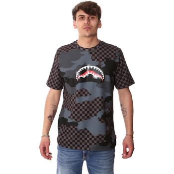Îmbracaminte Bărbați Tricouri mânecă scurtă Sprayground SP01820BLA Negru