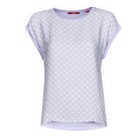 Îmbracaminte Femei Tricouri mânecă scurtă S.Oliver 14-1Q1-32-6972-48B2 Albastru