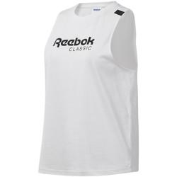 Îmbracaminte Femei Maiouri și Tricouri fără mânecă Reebok Sport DT7235 Alb