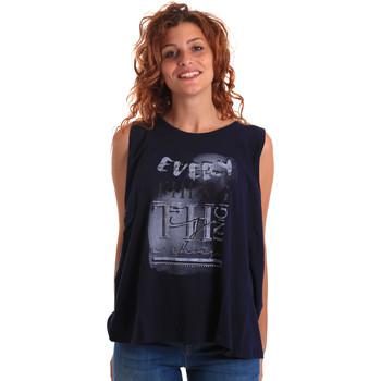 Îmbracaminte Femei Maiouri și Tricouri fără mânecă Key Up 5Z14S 0001 Albastru