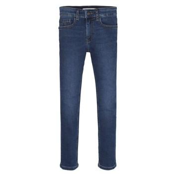 Îmbracaminte Băieți Jeans skinny Calvin Klein Jeans ESSENTIAL ROYAL BLUE STRETCH Albastru