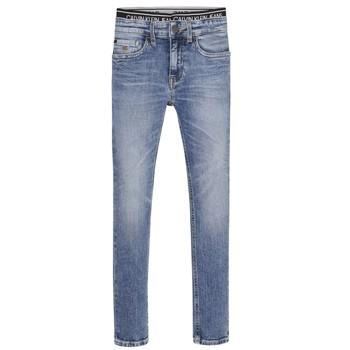 Îmbracaminte Băieți Jeans skinny Calvin Klein Jeans SKINNY VINTAGE LIGHT BLUE Albastru