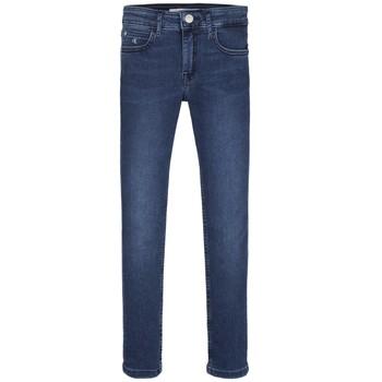 Îmbracaminte Fete Jeans skinny Calvin Klein Jeans SKINNY ESS ROYAL BLUE Albastru