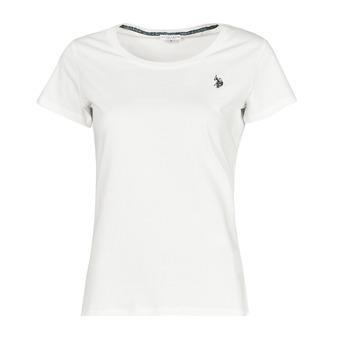 Îmbracaminte Femei Tricouri mânecă scurtă U.S Polo Assn. BELLA R NECK TEE SS Alb