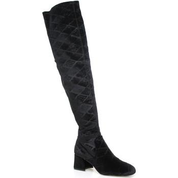 Pantofi Femei Cizme lungi peste genunchi Apepazza SHR06 Negru