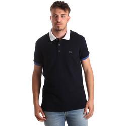 Îmbracaminte Bărbați Tricou Polo mânecă scurtă Nero Giardini P972240U Albastru