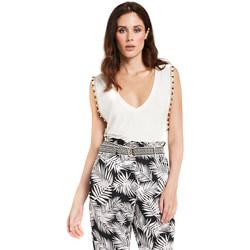 Îmbracaminte Femei Topuri și Bluze Gaudi 011FD64008 Alb