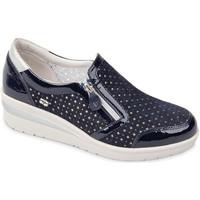 Pantofi Femei Pantofi Slip on Valleverde 18152 Albastru