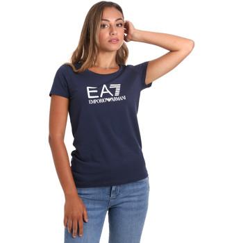 Îmbracaminte Femei Tricouri mânecă scurtă Ea7 Emporio Armani 8NTT63 TJ12Z Albastru