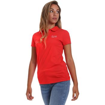 Îmbracaminte Femei Tricou Polo mânecă scurtă Ea7 Emporio Armani 3HTF57 TJ29Z Roșu