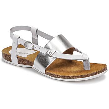 Pantofi Femei Sandale  Kickers ANAGRAMI Alb / Argintiu