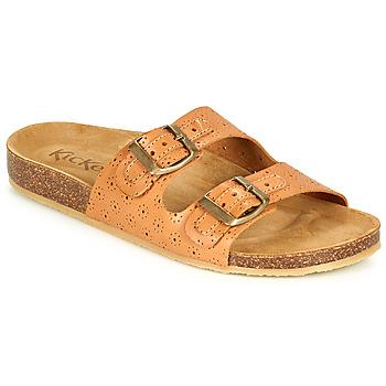 Pantofi Femei Papuci de vară Kickers ECOLOG Camel / LuminoasĂ
