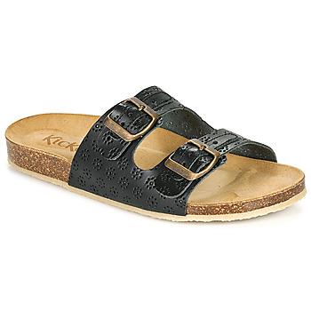 Pantofi Femei Papuci de vară Kickers ECOLOG Negru