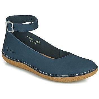 Pantofi Femei Balerin și Balerini cu curea Kickers HONNORA Albastru