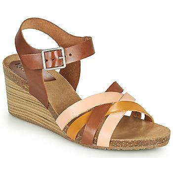 Pantofi Femei Sandale  Kickers SOLYNIA Roz / Maro / Galben