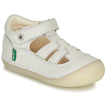 Pantofi Fete Balerin și Balerini cu curea Kickers SUSHY Alb