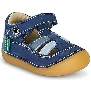 Pantofi Băieți Sandale  Kickers SUSHY Albastru