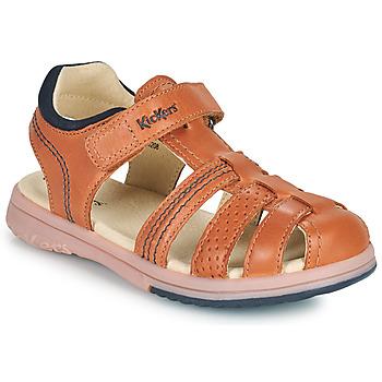 Pantofi Băieți Sandale  Kickers PLATINIUM Camel