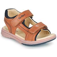 Pantofi Băieți Sandale  Kickers PLATINO Camel