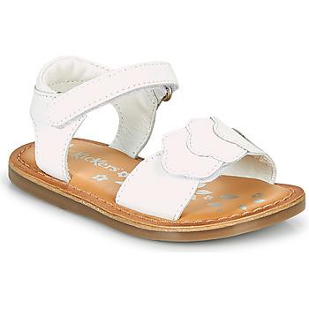 Pantofi Fete Sandale  Kickers DYASTAR Alb