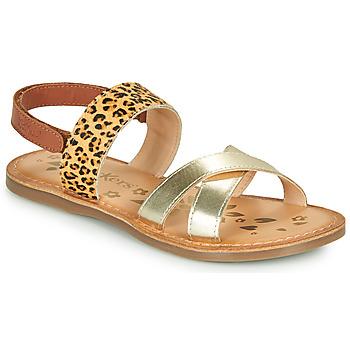 Pantofi Fete Sandale  Kickers DYACROSS Auriu