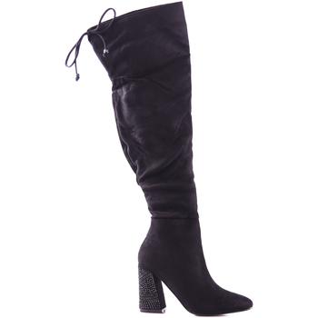 Pantofi Femei Cizme lungi peste genunchi Gold&gold B18 GJ13 Negru