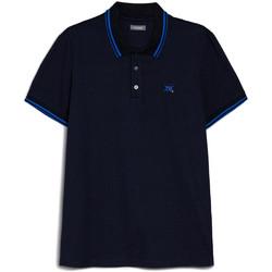Îmbracaminte Bărbați Tricou Polo mânecă scurtă NeroGiardini E072370U Albastru