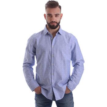 Îmbracaminte Bărbați Cămăsi mânecă lungă Gmf 962118/03 Albastru
