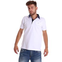 Îmbracaminte Bărbați Tricou Polo mânecă scurtă Bradano 000115 Alb