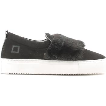 Pantofi Femei Pantofi Slip on Date A251-SL-FU-BK Negru