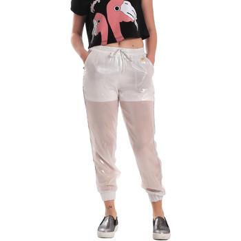 Îmbracaminte Femei Pantaloni de trening Fornarina SE171L95CA0509 Alb