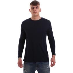 Îmbracaminte Bărbați Tricouri cu mânecă lungă  Antony Morato MMKL00264 FA100066 Albastru