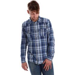 Îmbracaminte Bărbați Cămăsi mânecă lungă Gaudi 721BU46008 Albastru