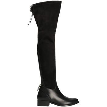 Pantofi Femei Cizme lungi peste genunchi Mally 6077-1 Negru