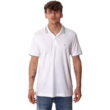 Îmbracaminte Bărbați Tricou Polo mânecă scurtă Calvin Klein Jeans K10K105183 Alb