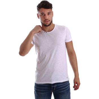 Îmbracaminte Bărbați Tricouri mânecă scurtă Key Up 233SG 0001 Alb