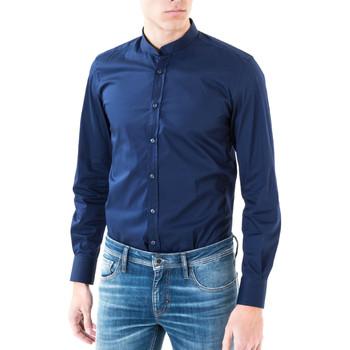 Îmbracaminte Bărbați Cămăsi mânecă lungă Antony Morato MMSL00376 FA450001 Albastru