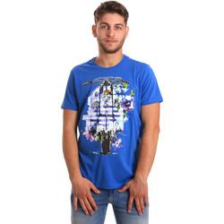Îmbracaminte Bărbați Tricouri mânecă scurtă Gaudi 811BU64154 Albastru
