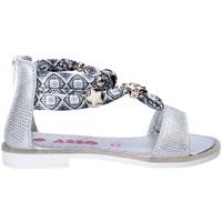 Pantofi Fete Sandale  Asso 64075 Gri