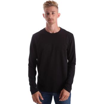 Îmbracaminte Bărbați Tricouri cu mânecă lungă  Gas 300187 Negru