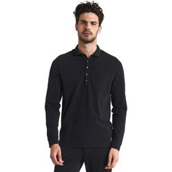 Îmbracaminte Bărbați Tricou Polo manecă lungă Gaudi 821FU64012 Negru