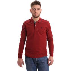 Îmbracaminte Bărbați Tricou Polo manecă lungă Key Up 2RG71 0001 Roșu