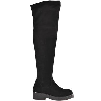 Pantofi Femei Cizme lungi peste genunchi Mally 6311 Negru