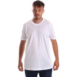 Îmbracaminte Bărbați Tricouri mânecă scurtă Key Up 2M915 0001 Alb