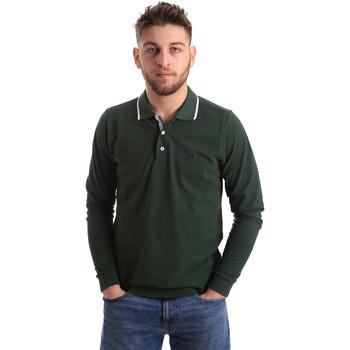Îmbracaminte Bărbați Tricou Polo manecă lungă Key Up 2L711 0001 Verde