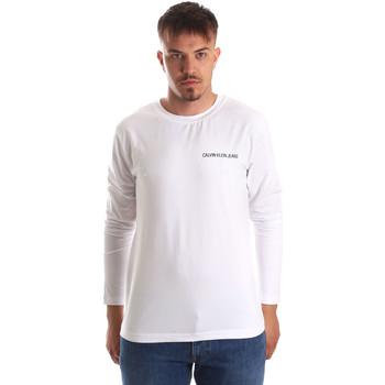 Îmbracaminte Bărbați Tricouri cu mânecă lungă  Calvin Klein Jeans J30J310489 Alb