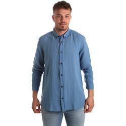 Îmbracaminte Bărbați Cămăsi mânecă lungă Antony Morato MMSL00530 FA400051 Albastru